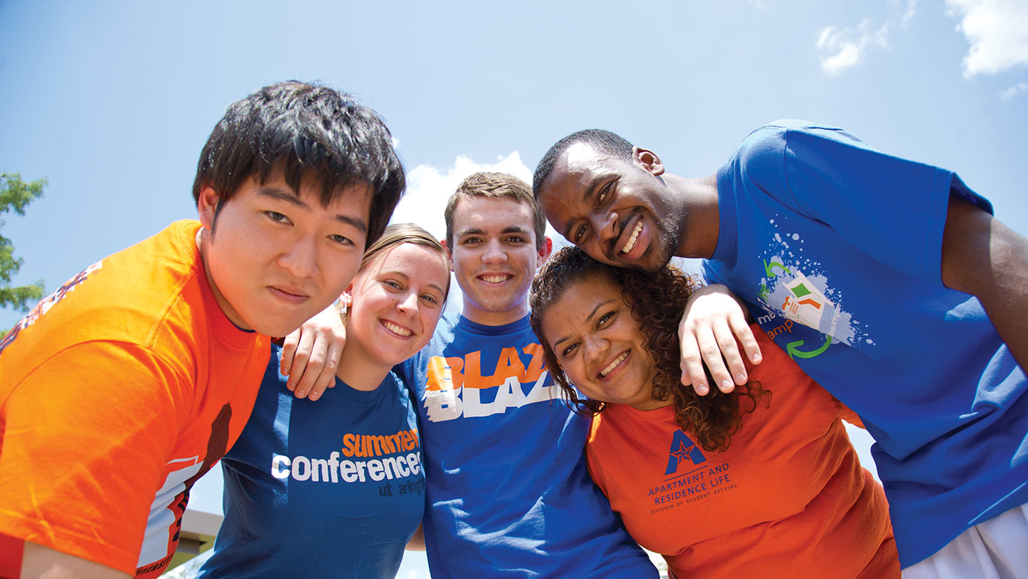 students smiling diverse