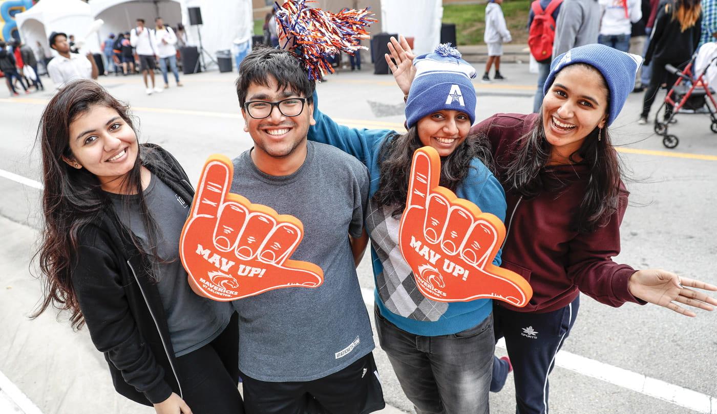 International students at homecoming