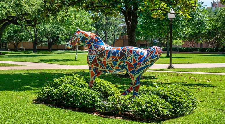 Spirit Horse on UTA Campus