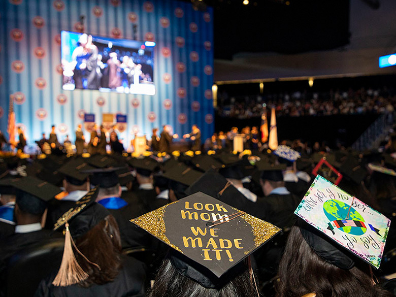 Commencement view of stage