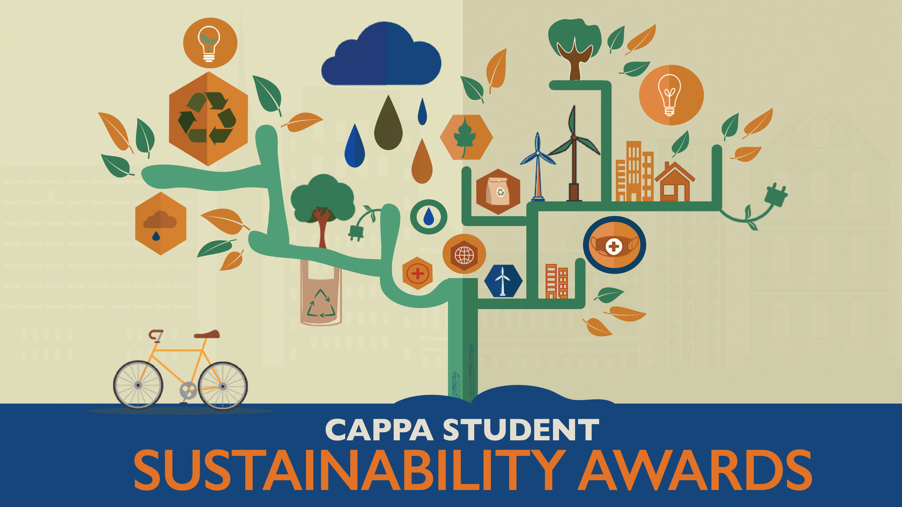 Cappa student sustainability awards graphic banner