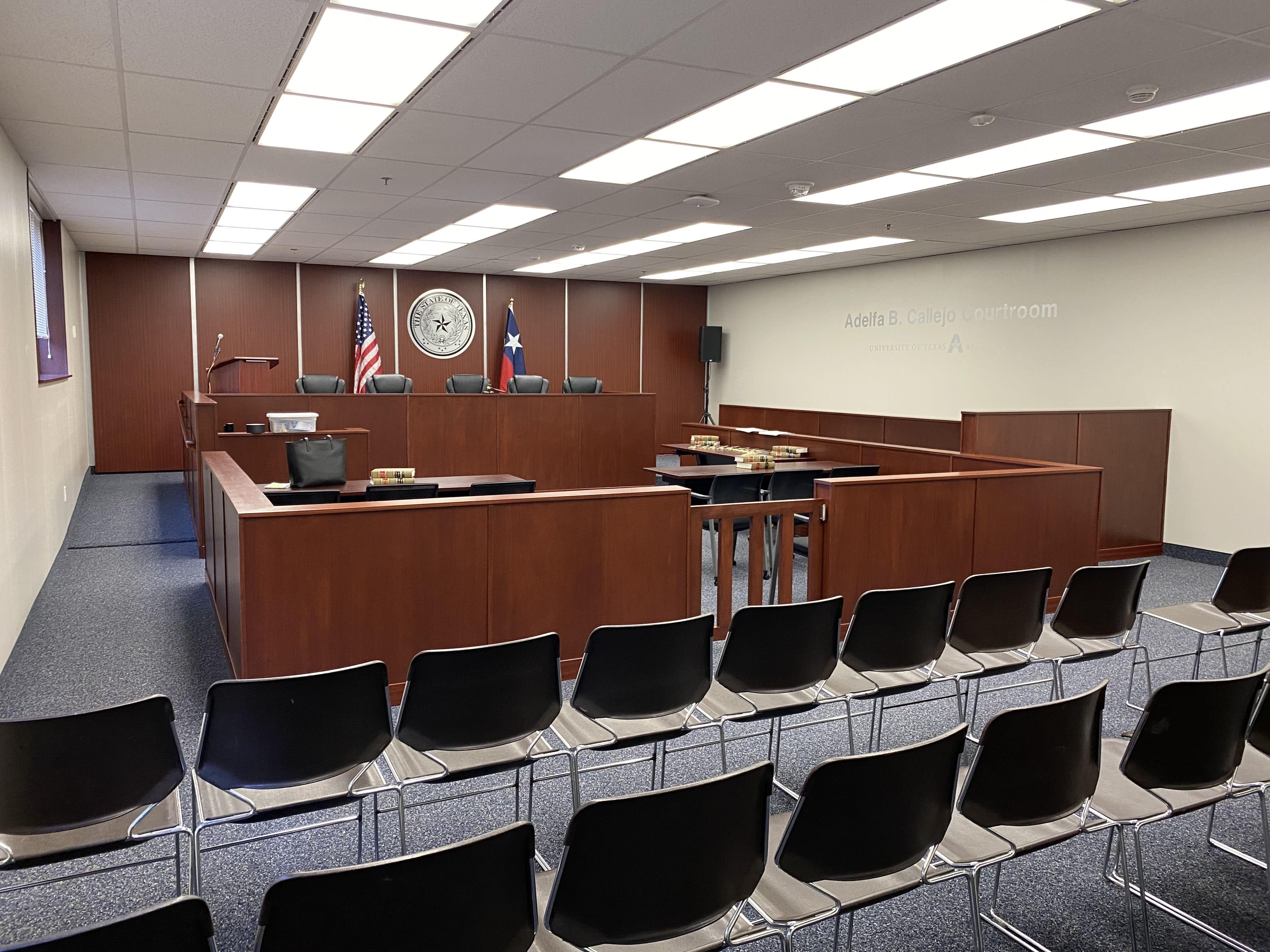 Amber White mock courtroom