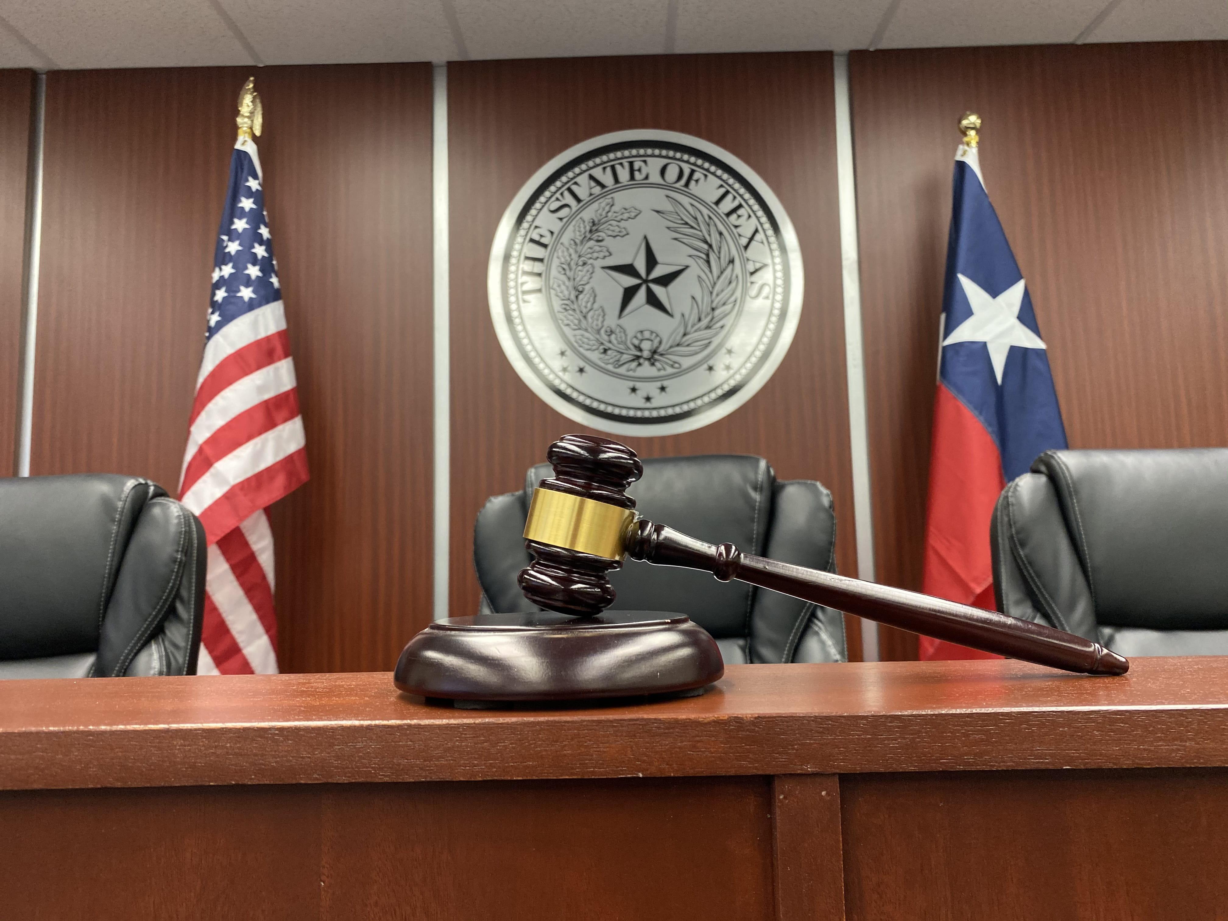 Amber White mock courtroom gavel