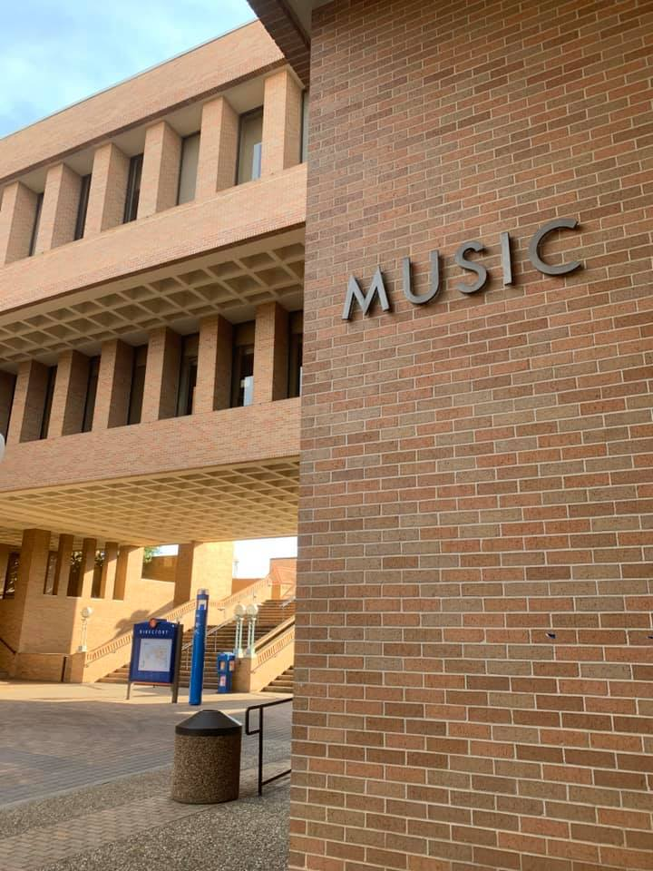 entrance to music building