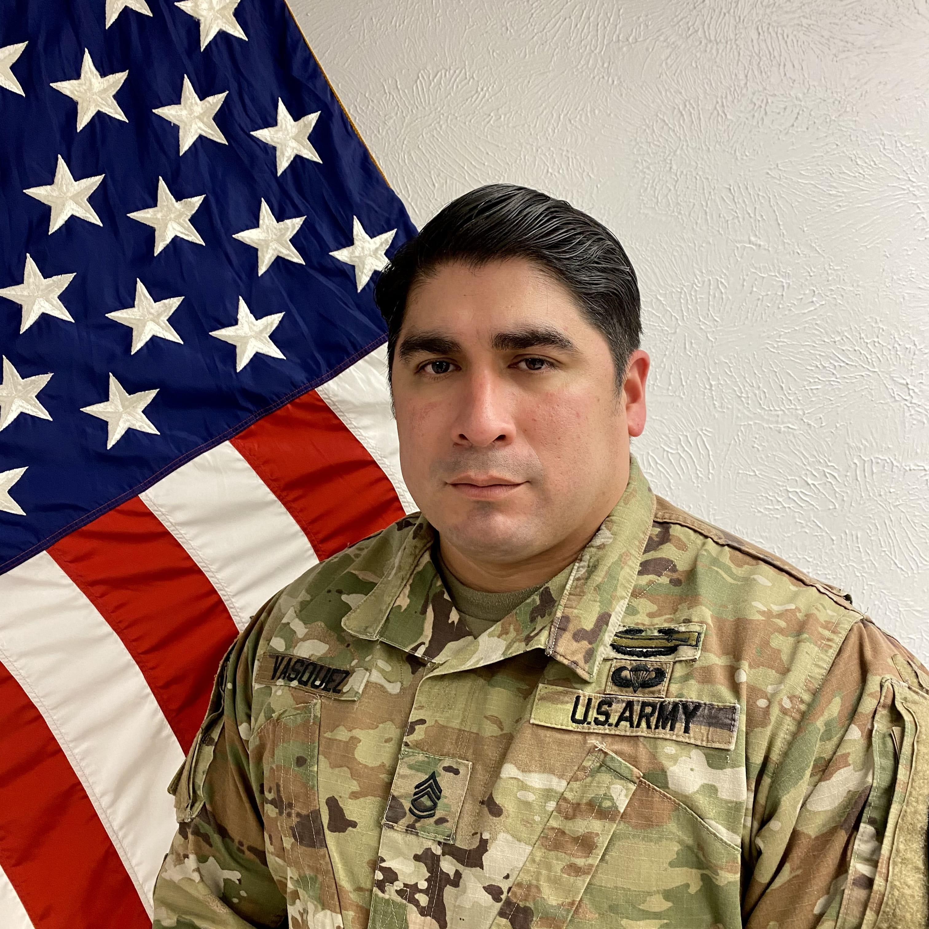 Sergeant First Class Johnny Vasquez