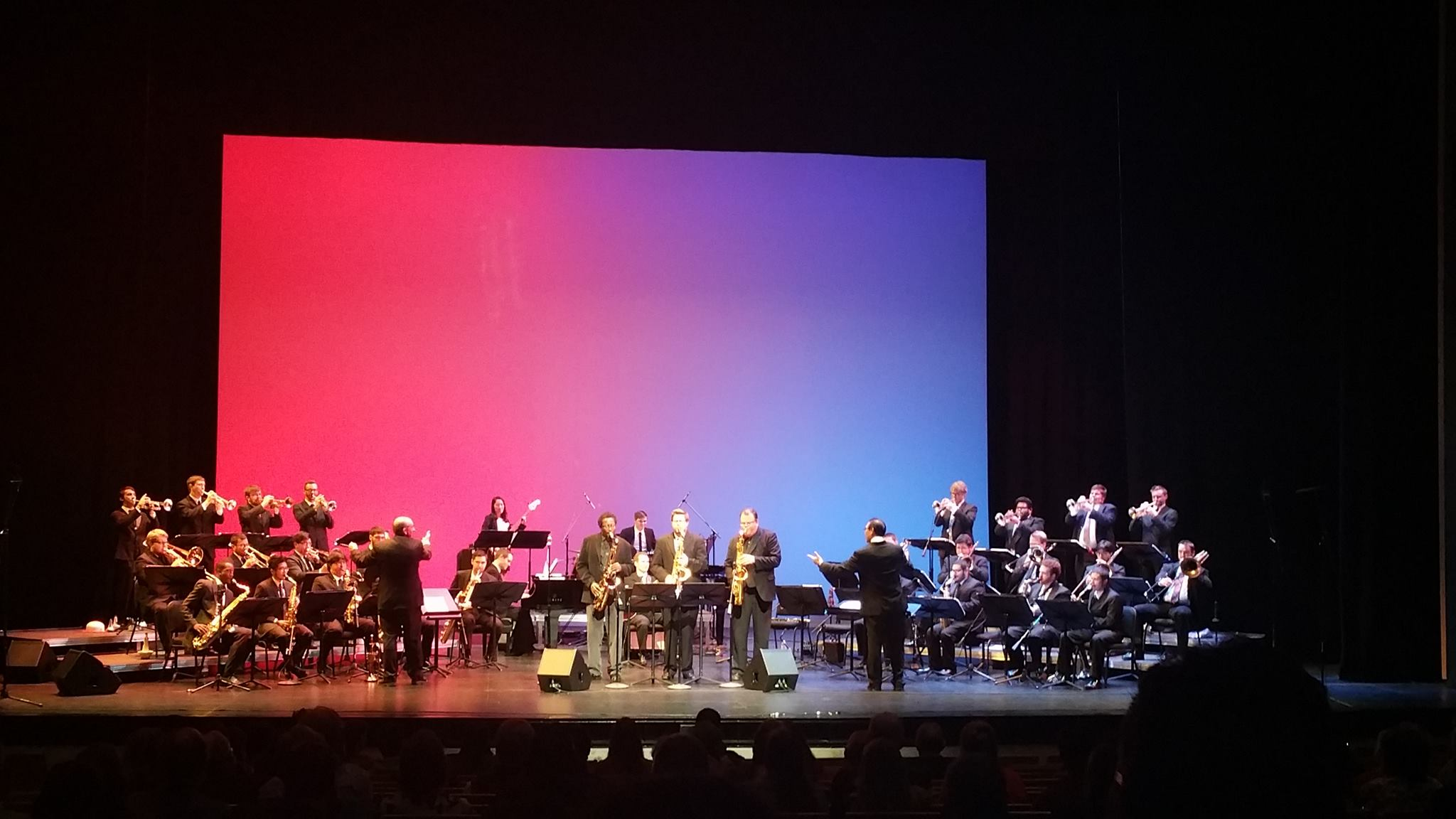 jazz ensemble performing on stage