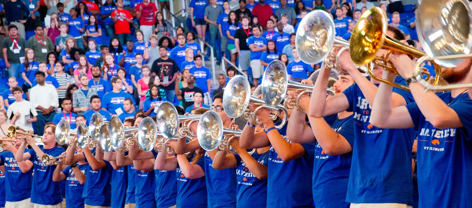 uta band playing inside college park center