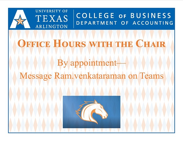 Accounting Chair Office Hours