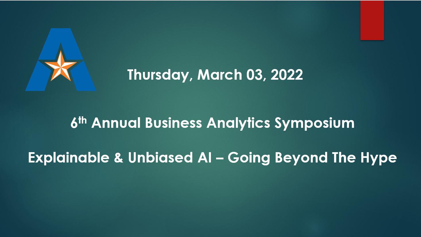 6th Annual Business Analytics Symposium Icon
