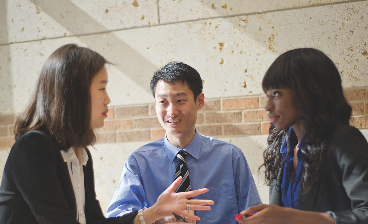 goolsby students talking