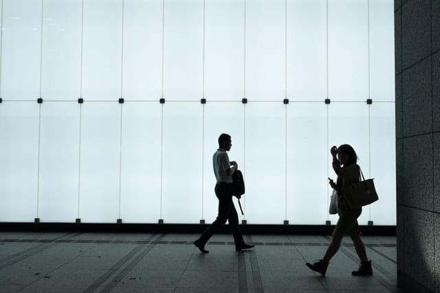 People Walking Icon