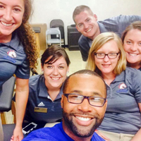 Athletic Training Student Association group photo os smiling and happy members