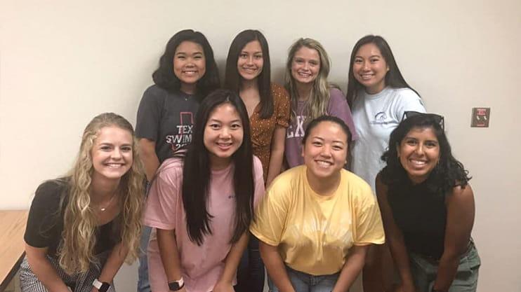 Eight members of the Nursing Mentor Program.