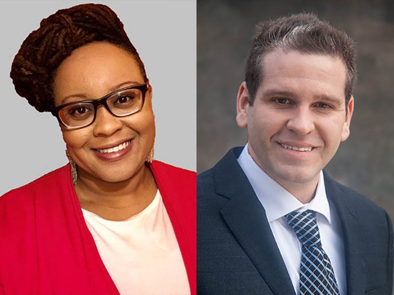 side by side portraits of Dr. Kyrah Brown and Dr. Michael Lemke