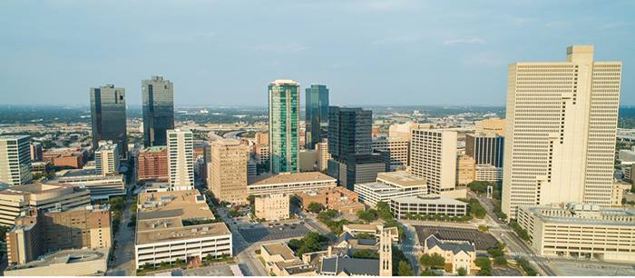 skyline view city of Fort Worth