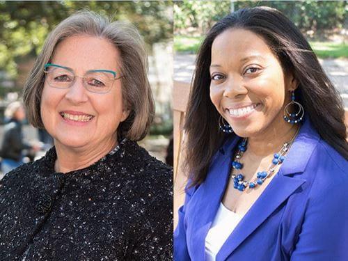 side by side portraits of Dr. Rebecca Garner and Dr. Brandie Green