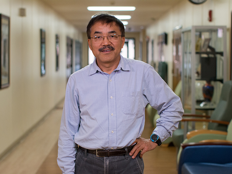 Dr. Yan Xiao portrait in hallway