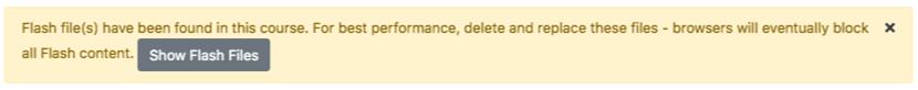 flash files warning message