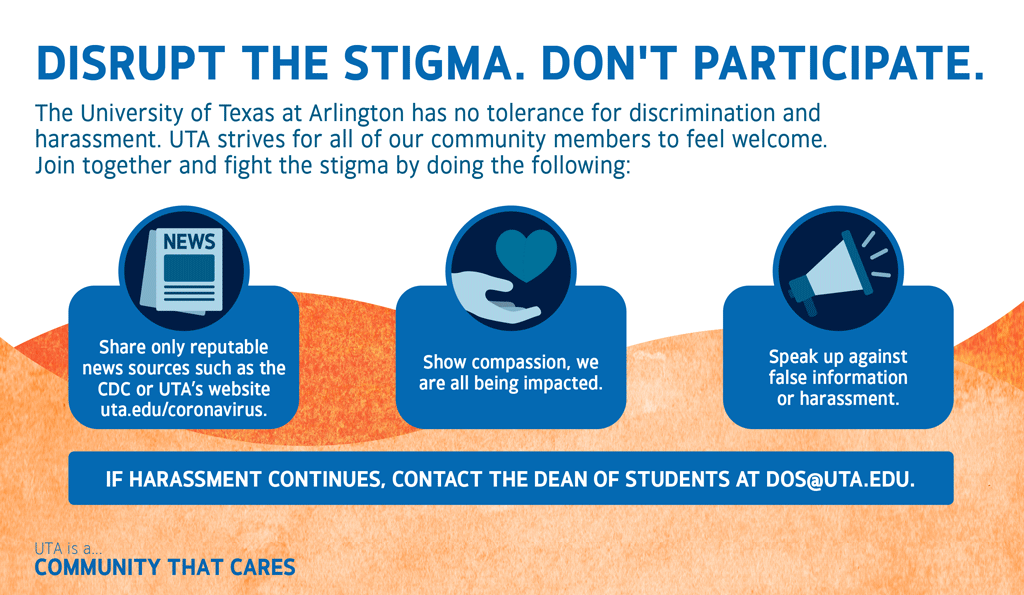 Disrupt the Stigma. Don't Participate in Harassment.
