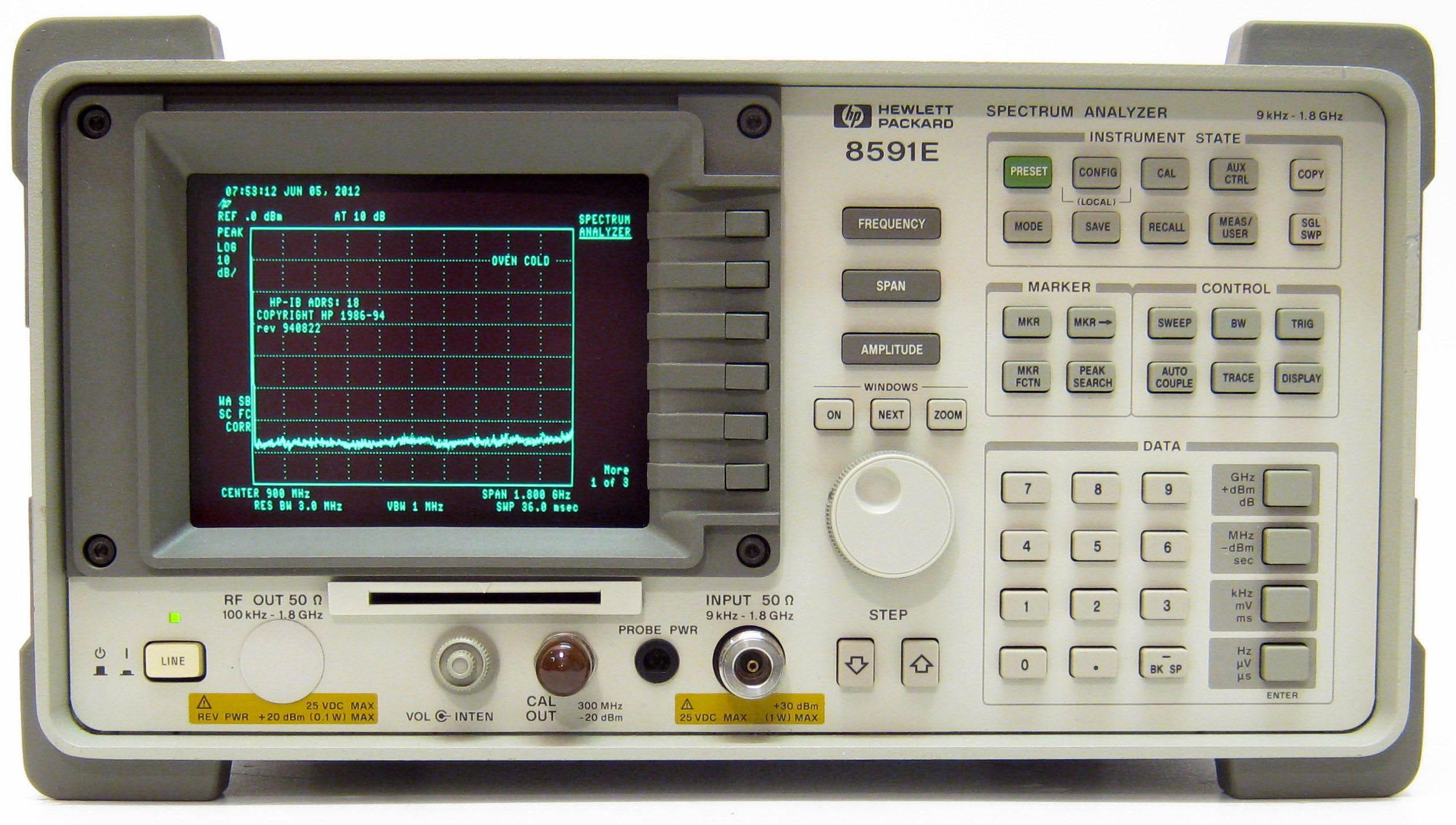 HP8591E spectrum analyzer