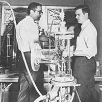 Engineers discuss an experiment