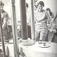 Civil Engineering students in a lab