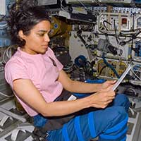 Kalpana Chawla, NASA astronaut, first Indian woman to fly to space and College alumna