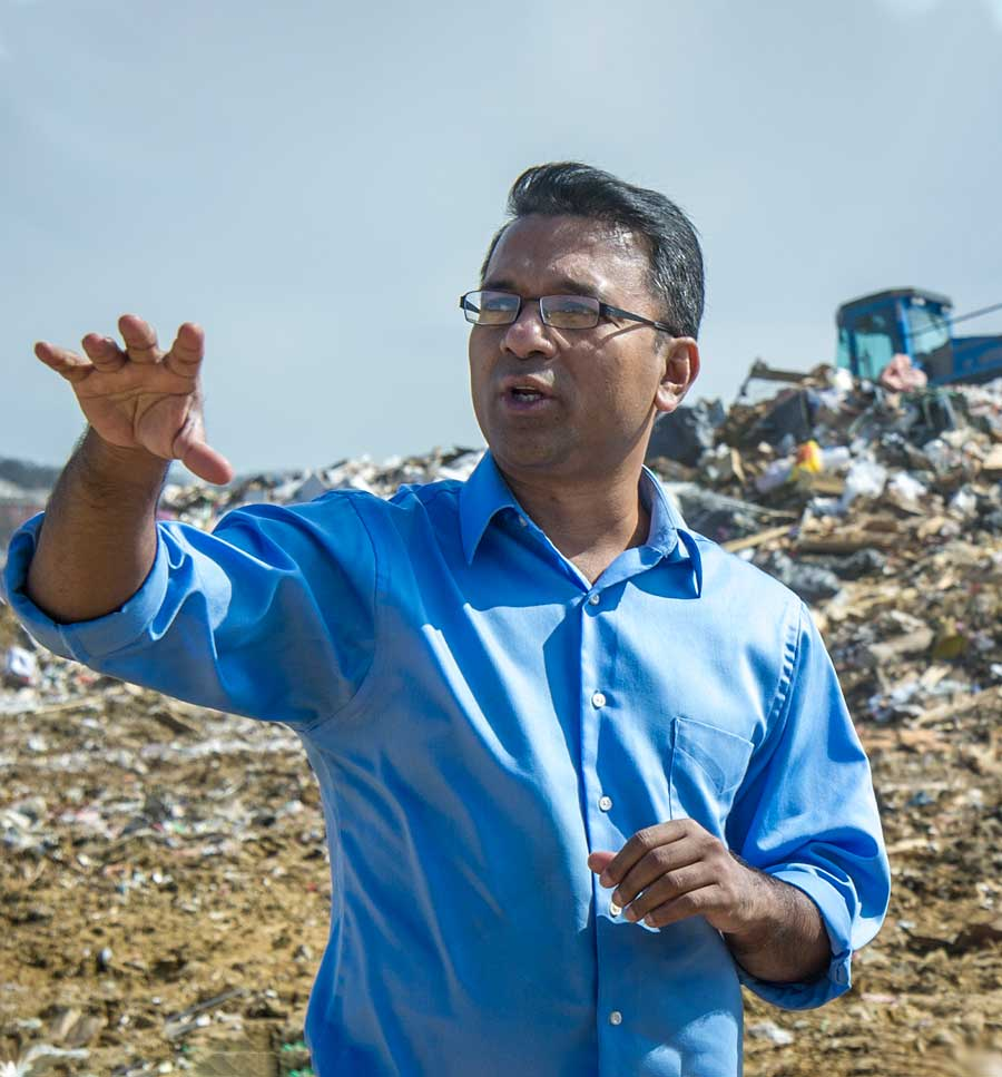 Dr. Hossain at a Landfill