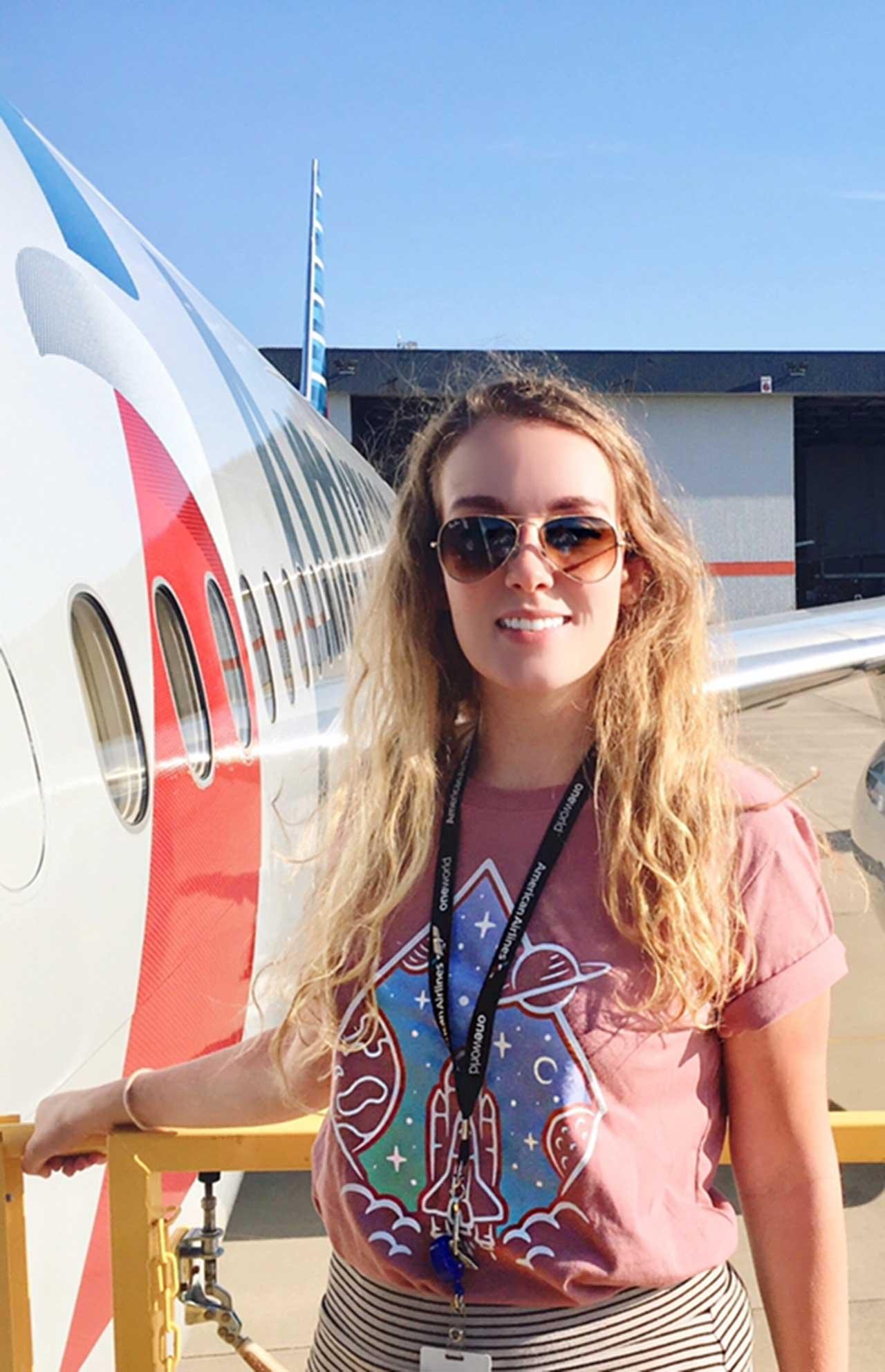 UTA aerospace engineering student Lauren Savage