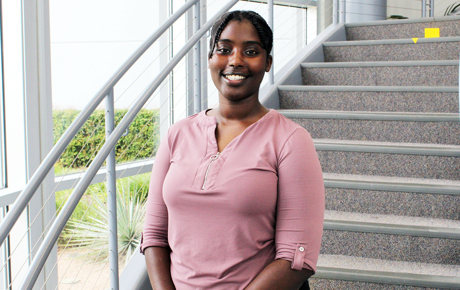 UTA electrical engineering student Tabita Barakagwira