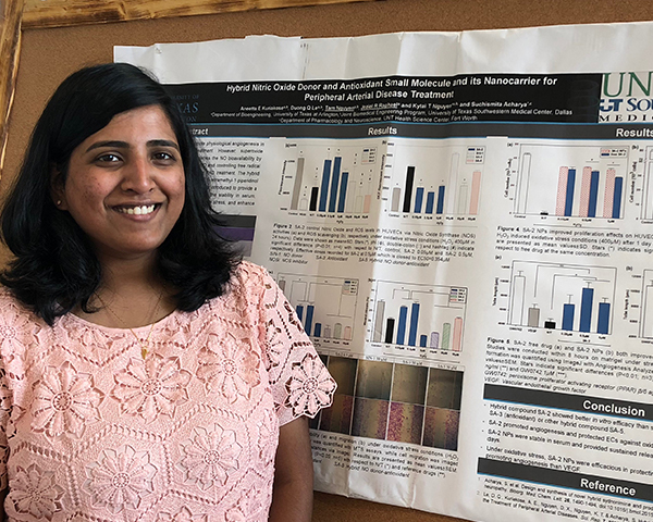 Aneetta Kuriakose presents her nanotechnology research progress for treatment of peripheral arterial disease.