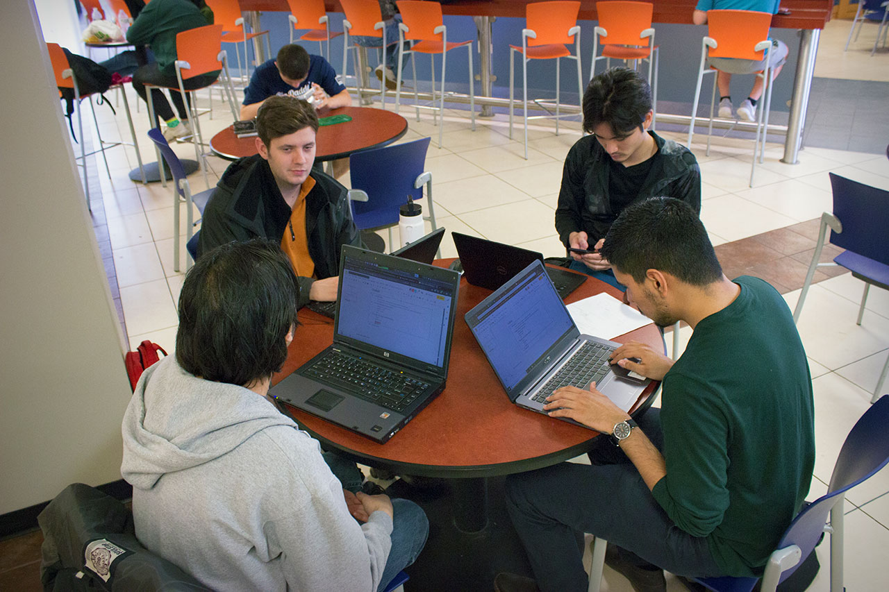 Students studying at the UC