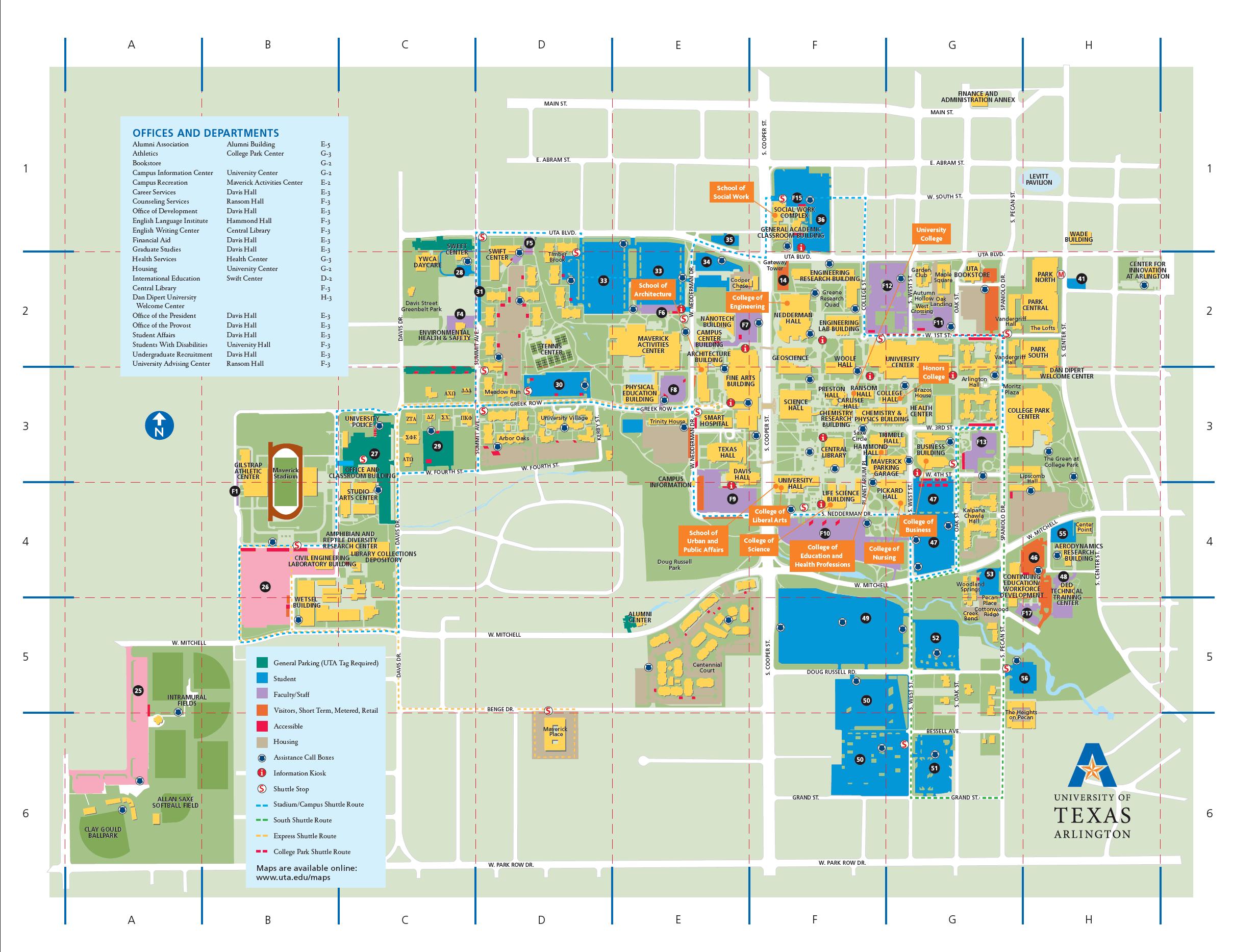 Map of UTA Campus