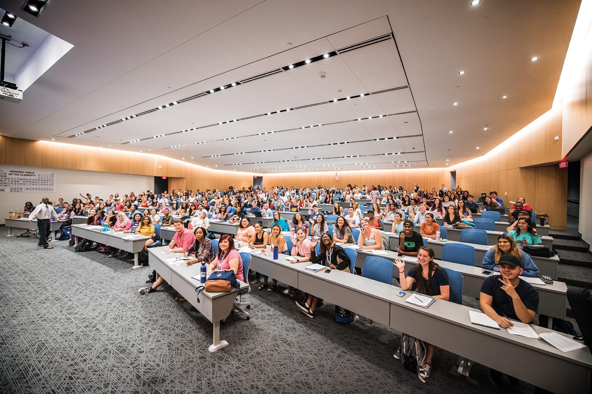 Student enrollment increased at UTA this fall.
