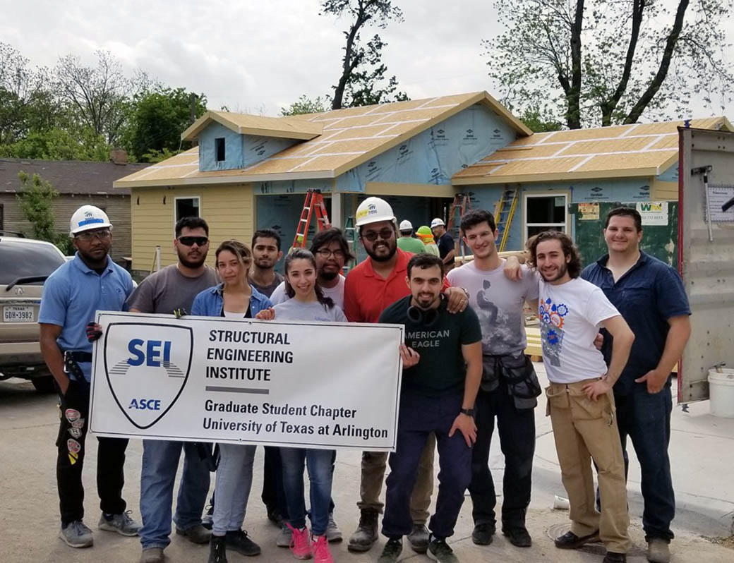 UTA's American Society of Civil Engineers' Structural Engineering Institute graduate chapter