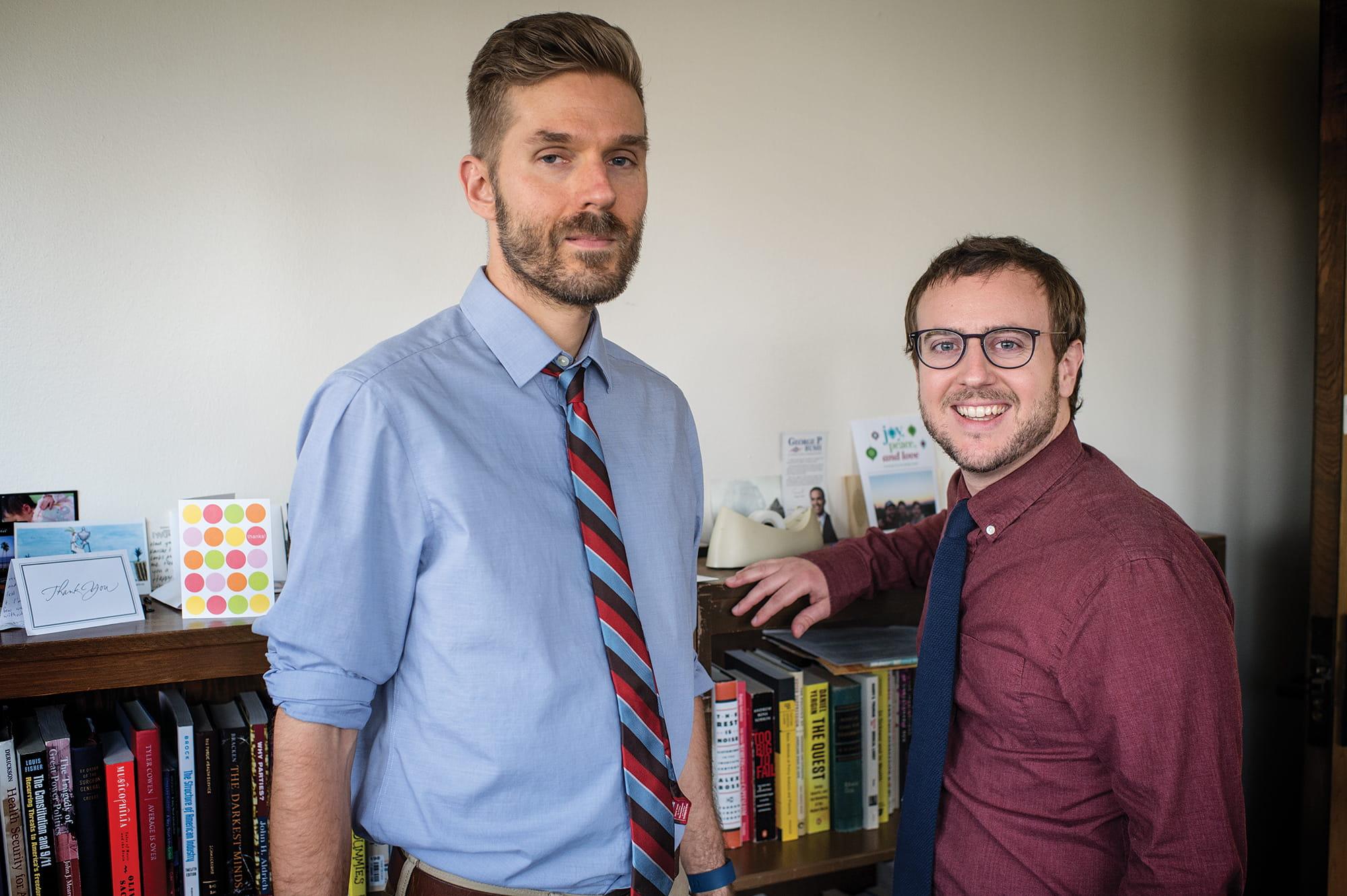 Daniel Sledge, left, and Herschel Thomas