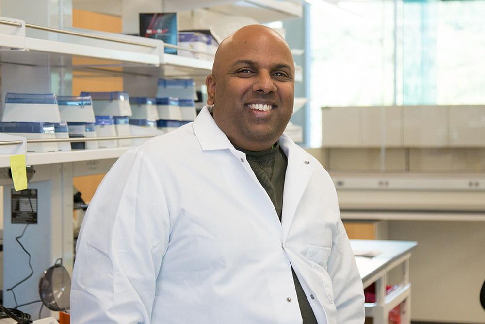 Venu Varanasi, an associate professor in UTA's Bone-Muscle Research Center