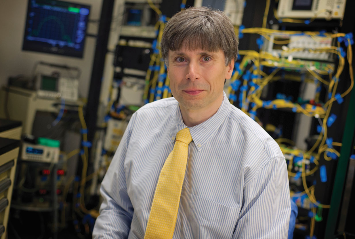 Michael Vasilyev, an expert in classical and quantum communications and professor of electrical engineering at The University of Texas at Arlington
