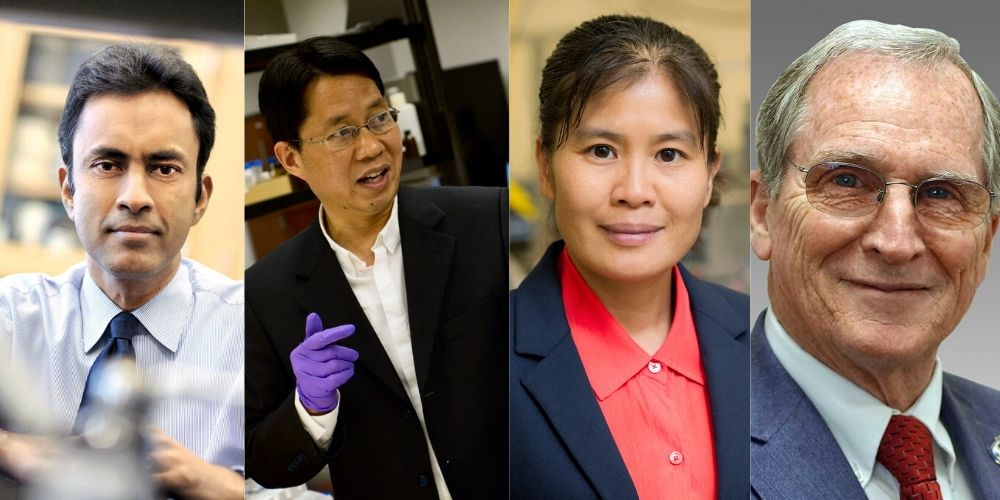 "Pranesh Aswath, professor of materials science and engineering; Wei Chen, professor of physics; Haiying Huang, professor of mechanical engineering; and Robert L. Woods, professor of mechanical engineering"" _languageinserted=""true"