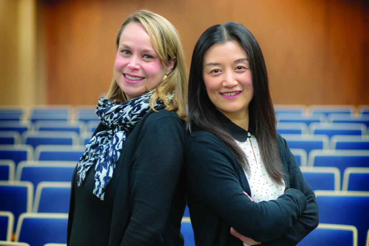 """Noelle Fields and Ling Xu, assistant professors in the School of Social Work at The University of Texas at Arlington."""" width=""""1280"""" _languageinserted=""""true"""" src=""""https://cdn.web.uta.edu/-/media/project/website/news/releases/2020/03/fields-xu-ssw.ashx?la=en"""