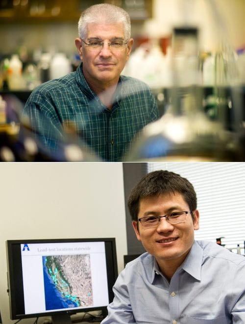 "Andy Kruzic and Xinbao Yu, associate professors of civil engineering"" _languageinserted=""true"