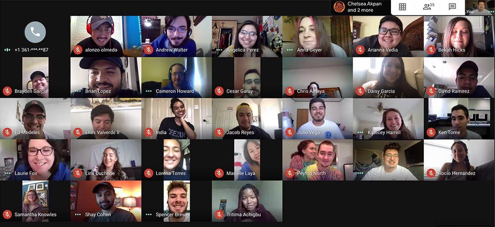 "Shorthorn staff in video meeting"" width=""2880"" _languageinserted=""true"" src=""https://cdn.web.uta.edu/-/media/project/website/news/releases/2020/05/shorthorn-zoom.ashx?la=en"
