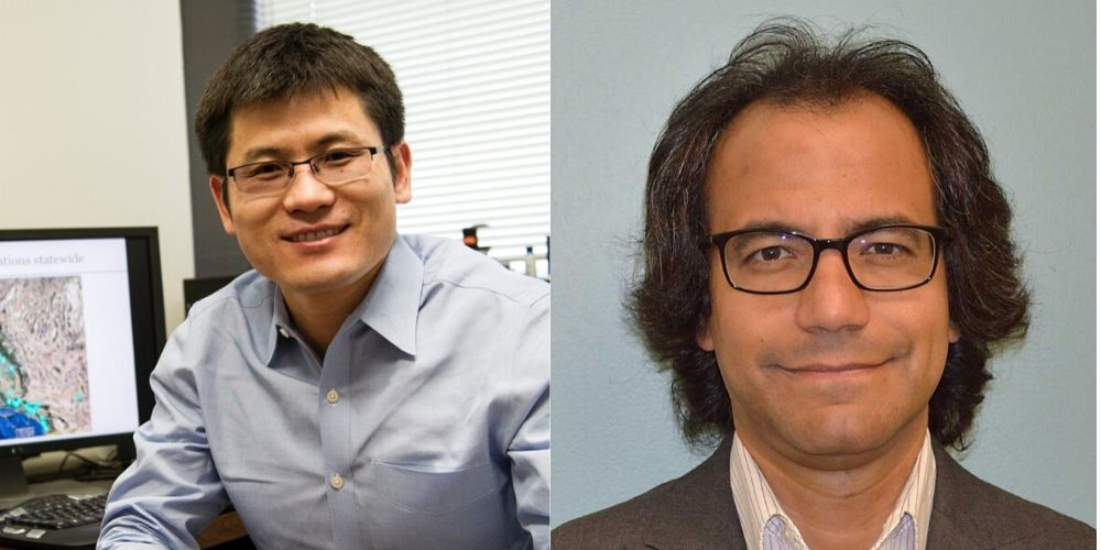 "Associate Professor Xinbao Yu and Professor Laureano Hoyos, both of UTA's Civil Engineering Department"" _languageinserted=""true"