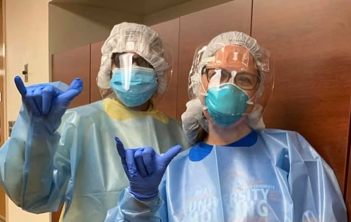 Middleton and Rangwalla in PPE gear