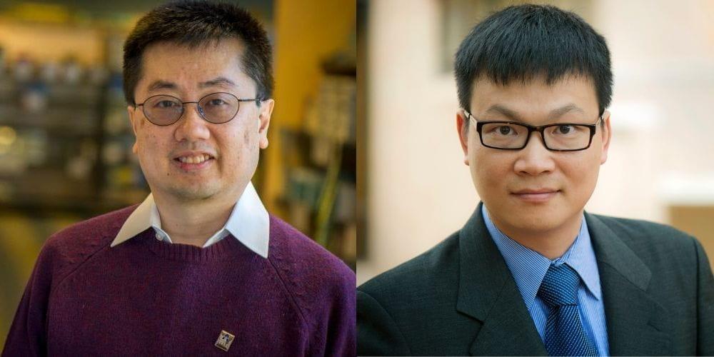 Kay-Yut Chen (left) and Jingguo Wang