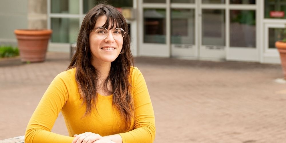 """Beatriz Vargas, a biology and biochemistry major who graduated in May."""" _languageinserted=""""true"""