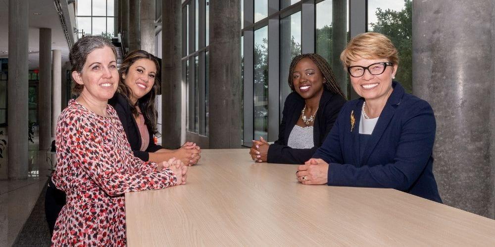 Left to right: Peggy Semingson, Denise Hernandez, Peace Ossom Williamson and Gabriela Wilson