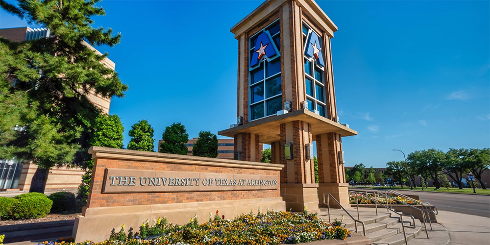 The tower at The University of Texas at Arlington
