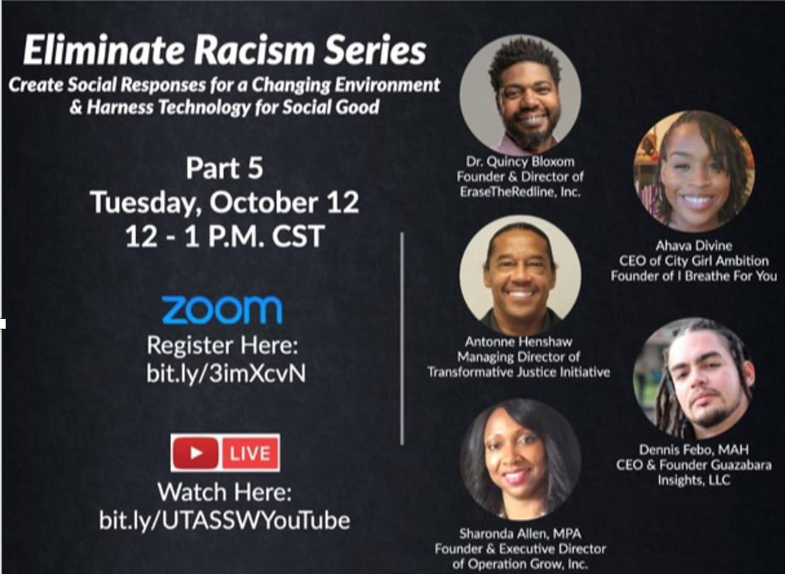 Grand Challenges for Social Work:  Eliminate Racism Series Pt. 5