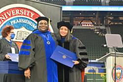Dr. Woody & Spring 2021 MSW Graduate